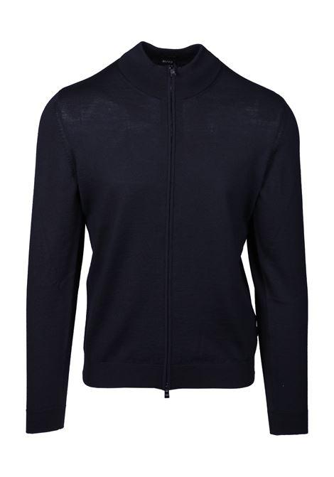 Felpa con chiusura zip in lana vergine BOSS | Maglie | 50419306001