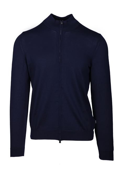 Felpa con chiusura zip in lana vergine BOSS | Maglie | 50419306402