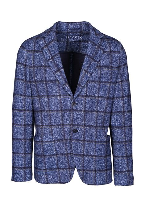 slim fit check jacket in cotton jersey CIRCOLO 1901 | Blazers | CN2417BLU