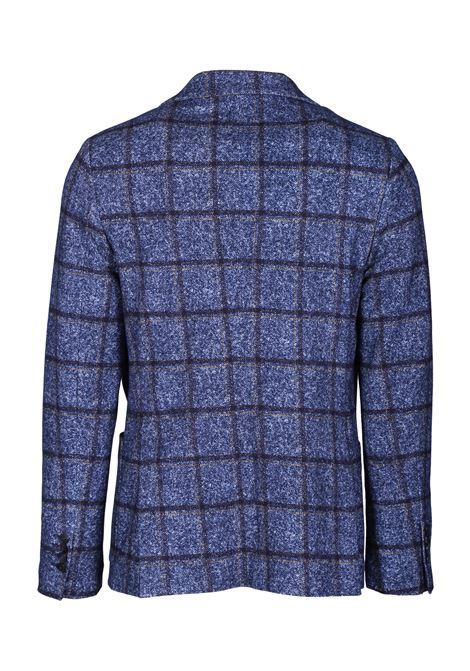 giacca check slim fit in jersey di cotone CIRCOLO 1901 | Giacche | CN2417BLU