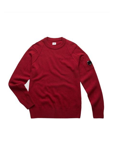 Maglione girocollo in lana d'agnello C.P. COMPANY | Maglie | 07CMKN064A005504A576