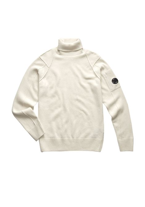 Lambswool Lens Roll Neck Sweater C.P. COMPANY | Sweaters | 07CMKN143A005504A103