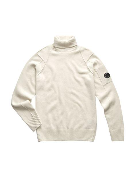 Maglione collo alto con lente in lana d'agnello C.P. COMPANY | Maglie | 07CMKN143A005504A103
