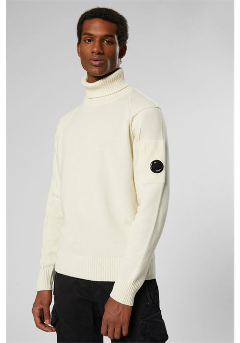 Lambswool Lens Roll Neck Sweater C.P. COMPANY   Knitwear   07CMKN143A005504A103