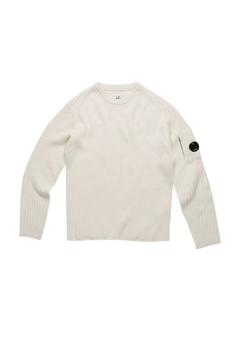 Merino Wool Ribbed Lens Sweater C.P. COMPANY | Sweaters | 07CMKN153A005292A103