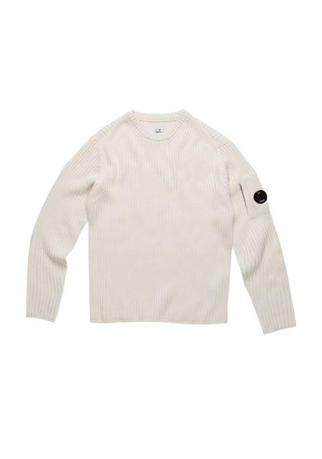 Maglione a coste con lenti in lana merino C.P. COMPANY | Maglie | 07CMKN153A005292A103