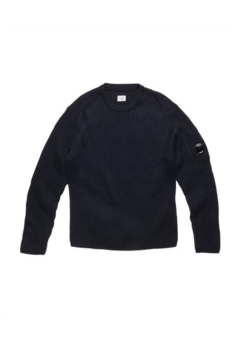 Merino Wool Ribbed Lens Sweater C.P. COMPANY | Sweaters | 07CMKN153A005292A888