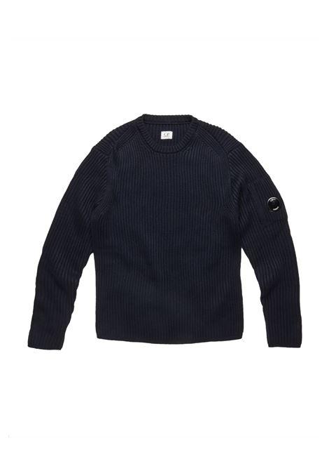 Maglione a coste con lenti in lana merino C.P. COMPANY | Maglie | 07CMKN153A005292A888