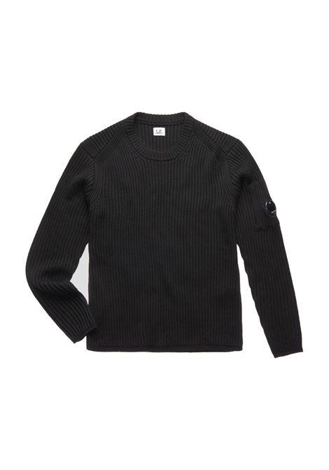 Maglione a coste con lenti in lana merino C.P. COMPANY | Maglie | 07CMKN153A005292A999