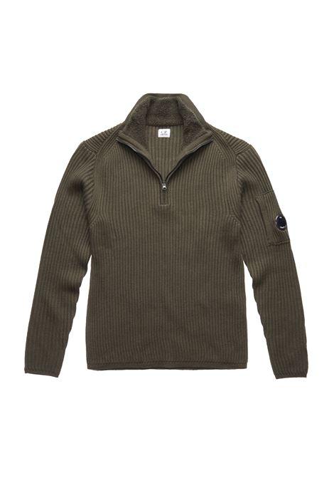 Maglione con lente a coste in lana merino C.P. COMPANY | Maglie | 07CMKN155A005292A670