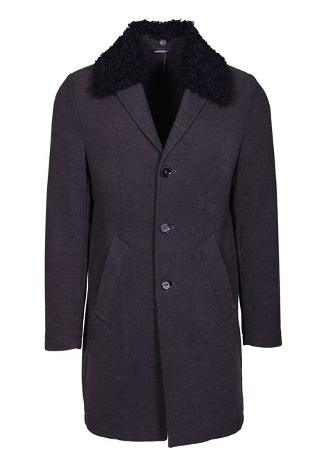 Three-button coat with fur collar DANIELE ALESSANDRINI | Coat | T529M510390610