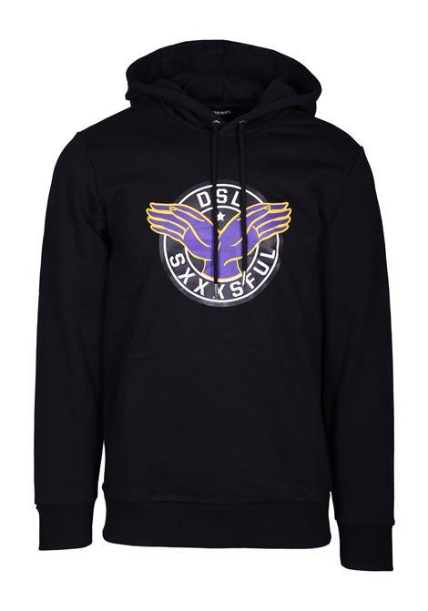 hooded sweatshirt s-gir-hood-b4 DIESEL | Sweatshirt | 00S58H0IAEG900