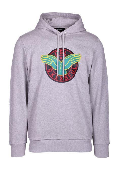 hooded sweatshirt s-gir-hood-b4 DIESEL | Sweatshirt | 00S58H0IAEG912