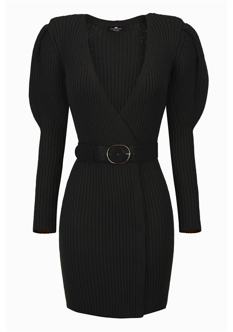 Knitted dress with belt ELISABETTA FRANCHI | Dresses | AM45M96E2110