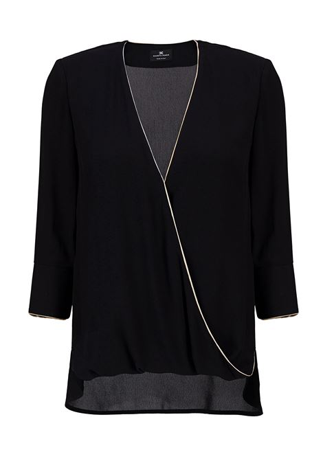 Blouse with contrasting piping ELISABETTA FRANCHI | Shirts | CA22296E2110