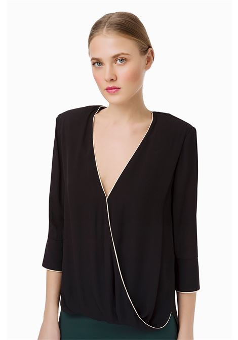 Blusa con piping a contrasto ELISABETTA FRANCHI | Camicie | CA22296E2110