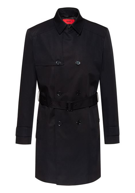 Slim-fit trench coat in water-repellent fabric HUGO | Coat | 50411956001