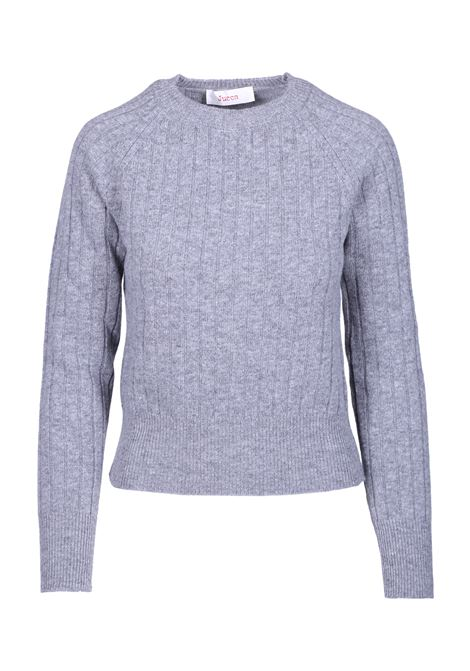 CREW NECK SWEATER WITH STRIPED TEXTURE JUCCA | Sweaters | J3011062047