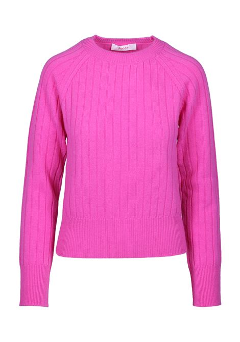 CREW NECK SWEATER WITH STRIPED TEXTURE JUCCA | Sweaters | J30110621570