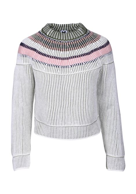 CREW NECK SWEATER WITH RIBBED TEXTURE M MISSONI | Sweaters | 2DN001142K002ZS603D