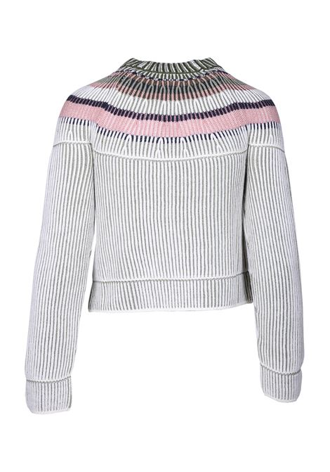 CREW NECK SWEATER WITH RIBBED TEXTURE M MISSONI | Knitwear | 2DN001142K002ZS603D