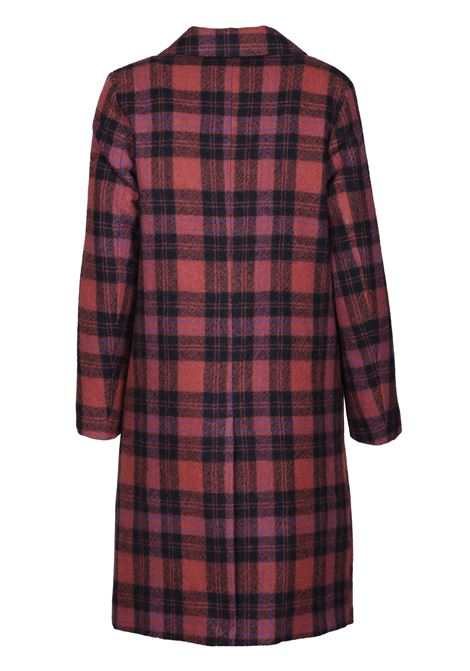 DOUBLE BREASTED CHECK COA MOMONI | Overcoat | MOC00090968