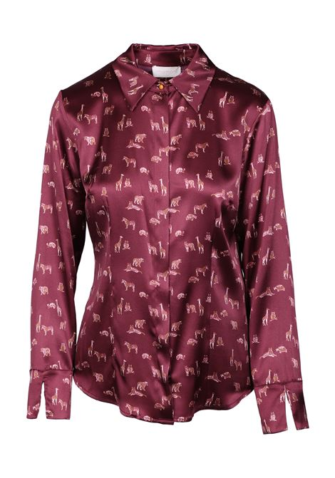 ANIMAL PRINTED SATIN SHIRT MOMONI | Shirts | MOSH0044021