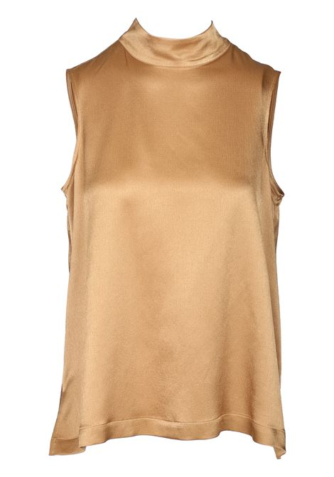 HAMMERED VISCOSE TOP WITH HIGH NECK MOMONI | Tops | MOT0010002