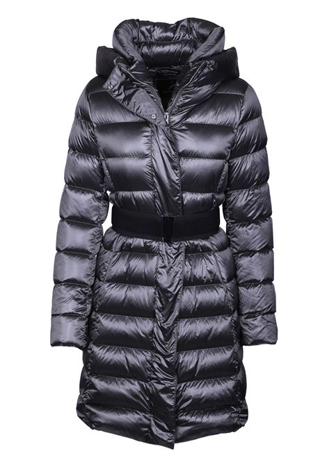 LONG DOWN JACKET WITH HOOD AND BELT MONTECORE | Jackets | 2726CX467 19283098