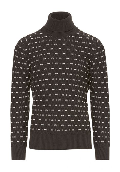BICOLOR TURTLENECK WITH LOSANGE PATTERN PAOLO PECORA | Sweaters | A07870128757