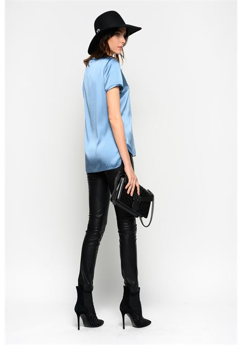 T-SHIRT IN SATIN STRETCH PINKO   Bluse   1G149MY5NSE83