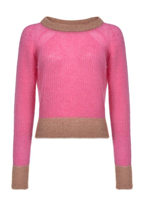 CROPPED ALPACA BLEND AND LUREX PULLOVER