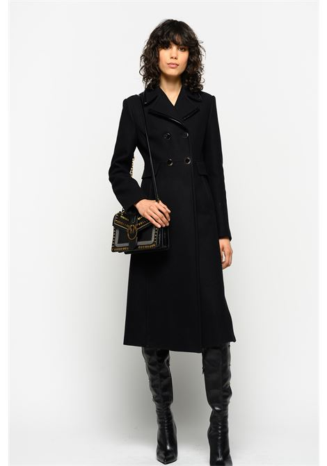 LONG WOOL MELTON COAT PINKO | Overcoat | 1G14D97507Z99