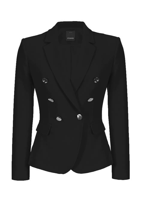 BLAZER WITH MIRRORED BUTTONS