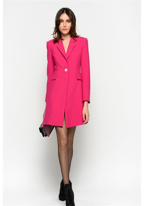 COAT WITH JEWEL BUTTON PINKO | Overcoat | 1G14H17642YA6