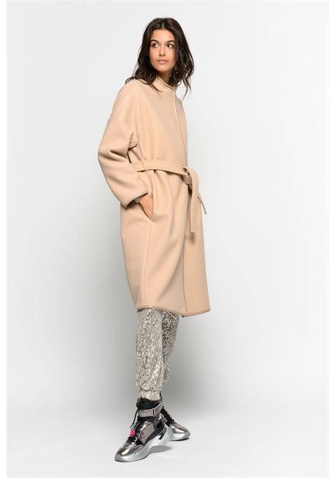 COAT WITH CONTRAST PROFILES PINKO | Overcoat | 1G14JJ7507Q10