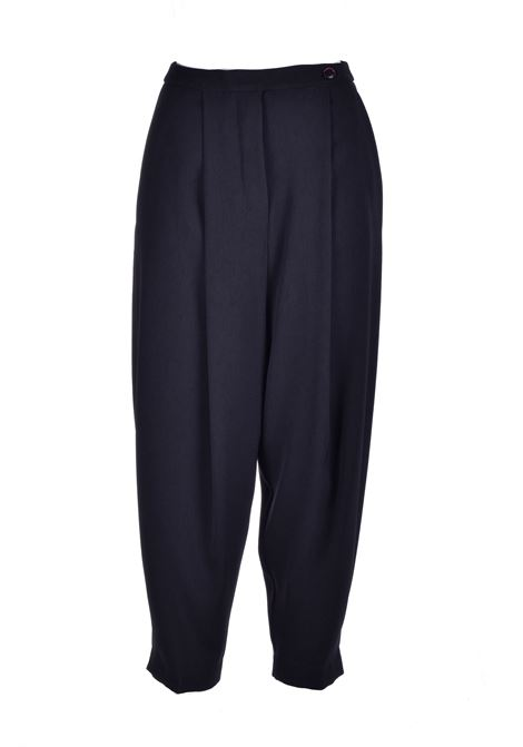 Black slouchy trousers ALESSIA SANTI | Trousers | 25008S3000