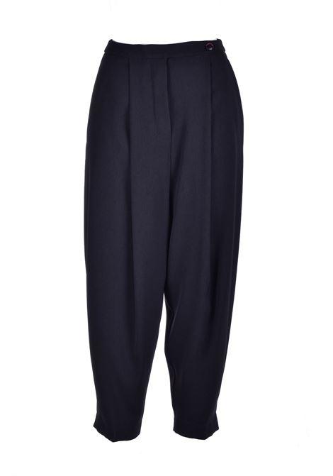 Pantalone slouchy nero ALESSIA SANTI | Pantaloni | 25008S3000
