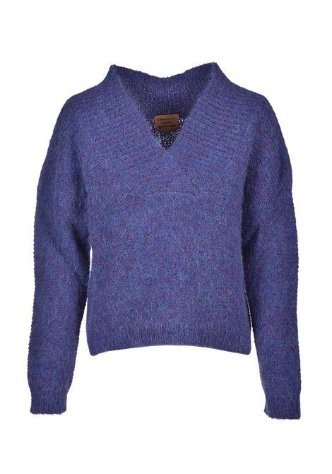 Indigo V-neck sweater ALESSIA SANTI | Sweaters | 53021S3633