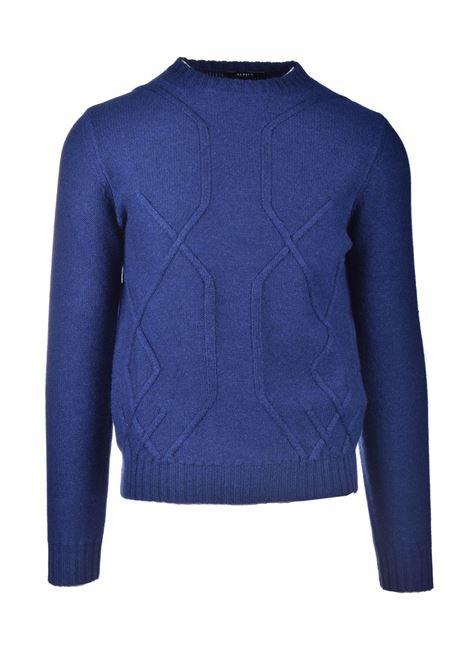 Girocollo in lana merinos con motivi in rilievo ALPHA STUDIO   Maglieria   AU 3032/C9049