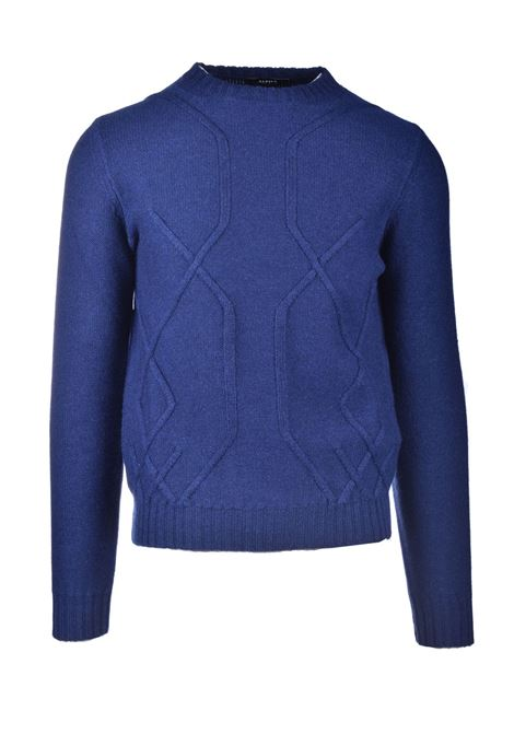 Merino wool crewneck with embossed motifs ALPHA STUDIO | Knitwear | AU 3032/C9049