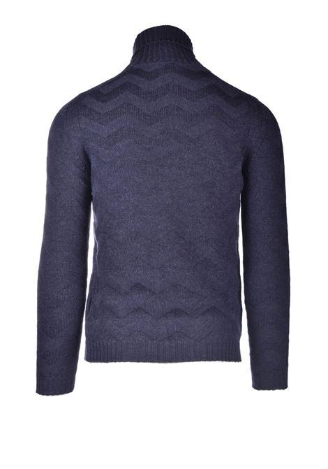 Merino wool turtleneck with herringbone motifs ALPHA STUDIO | Knitwear | AU 3040/G9044