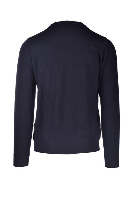 Girocollo in lana merinos nero ALPHA STUDIO | Maglieria | AU 3080/C9064