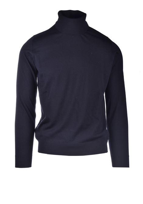 Dolcevita in lana merinos nero ALPHA STUDIO | Maglieria | AU 3081/G9064