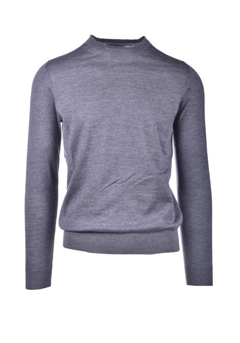 Choker in pure gray worsted cashmere ALPHA STUDIO | Knitwear | AU 3300/C9253