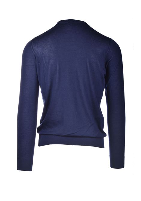 Choker in pure blue worsted cashmere ALPHA STUDIO | Knitwear | AU 3300/C9256