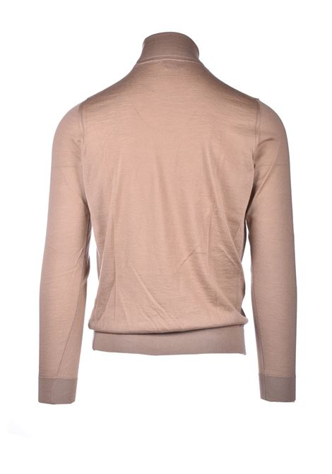 Turtleneck in pure beige worsted cachmere ALPHA STUDIO | Knitwear | AU 3301/G9251