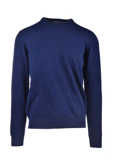 Choker in pure blue worsted cashmere ALPHA STUDIO | Knitwear | AU 3310/C9236