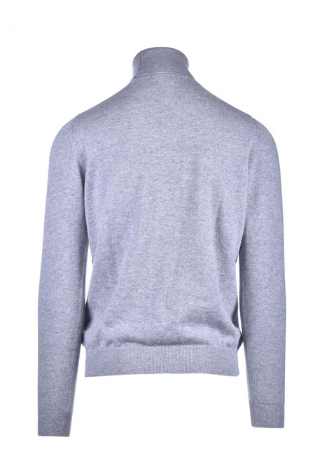 Turtleneck in pure gray worsted cachmere ALPHA STUDIO | Knitwear | AU 3312/G9223