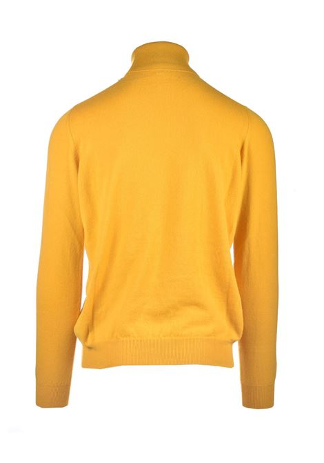 Turtleneck in pure amber worsted cashmere ALPHA STUDIO | Knitwear | AU 3312/G9228